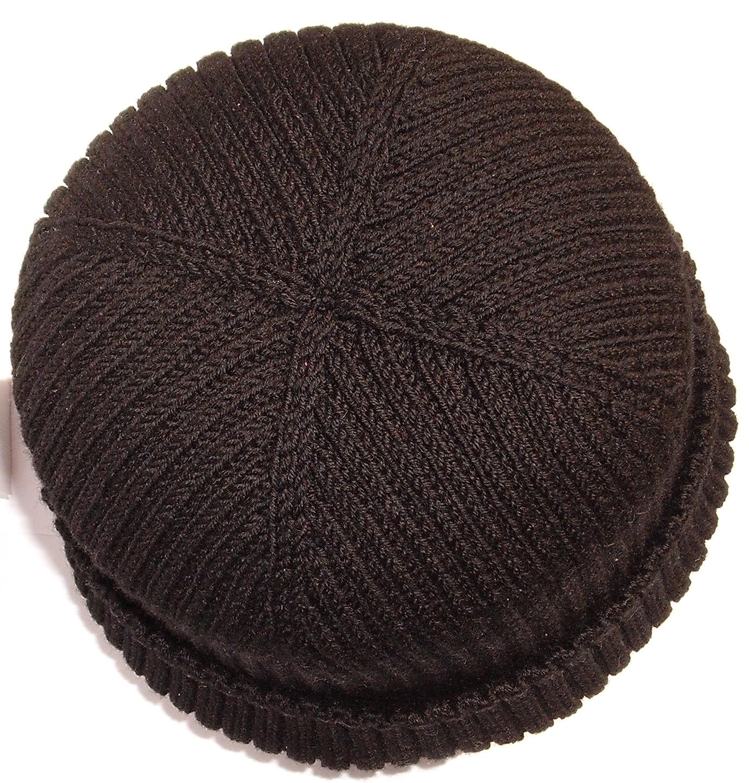 Связать шапку с помпоном и отворотом
