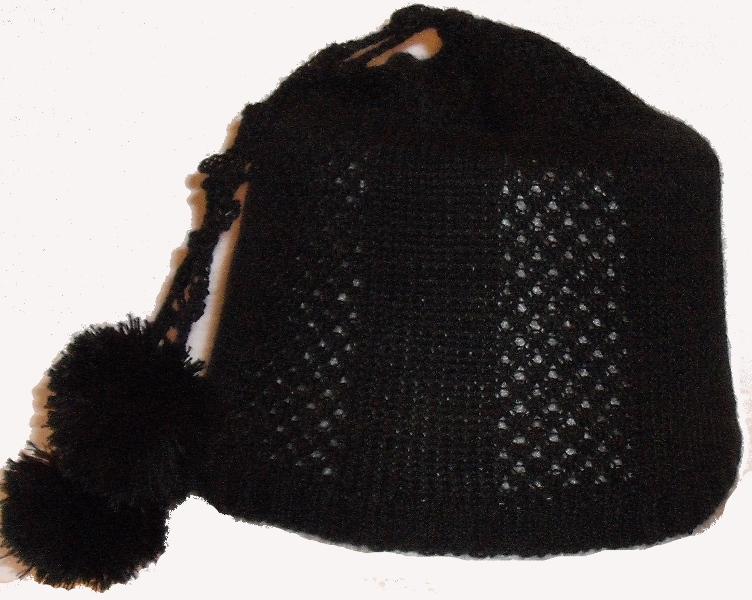 шапка на вязальной машине